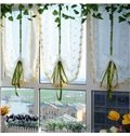 Blackout and Decoration Small Flowers Silk Sheer Embroidery Country Style Roman Sheer Shade