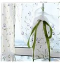 Decoration and Blackout Embroidery Purple Flowers Silk Sheer Modern Style Roman Sheer Shade