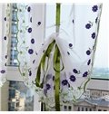 Decoration and Blackout Silk Sheer Purple Flowers Country Style Roman Sheer Shade