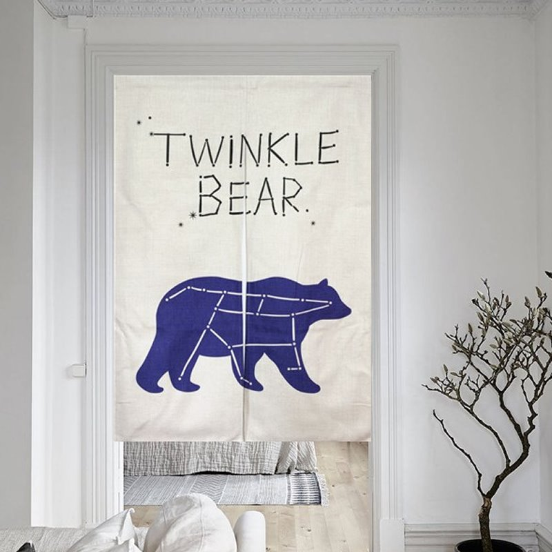 33*35in Northern Europe Twinkle Bear Pattern Versatile Wall/Door Tapestry