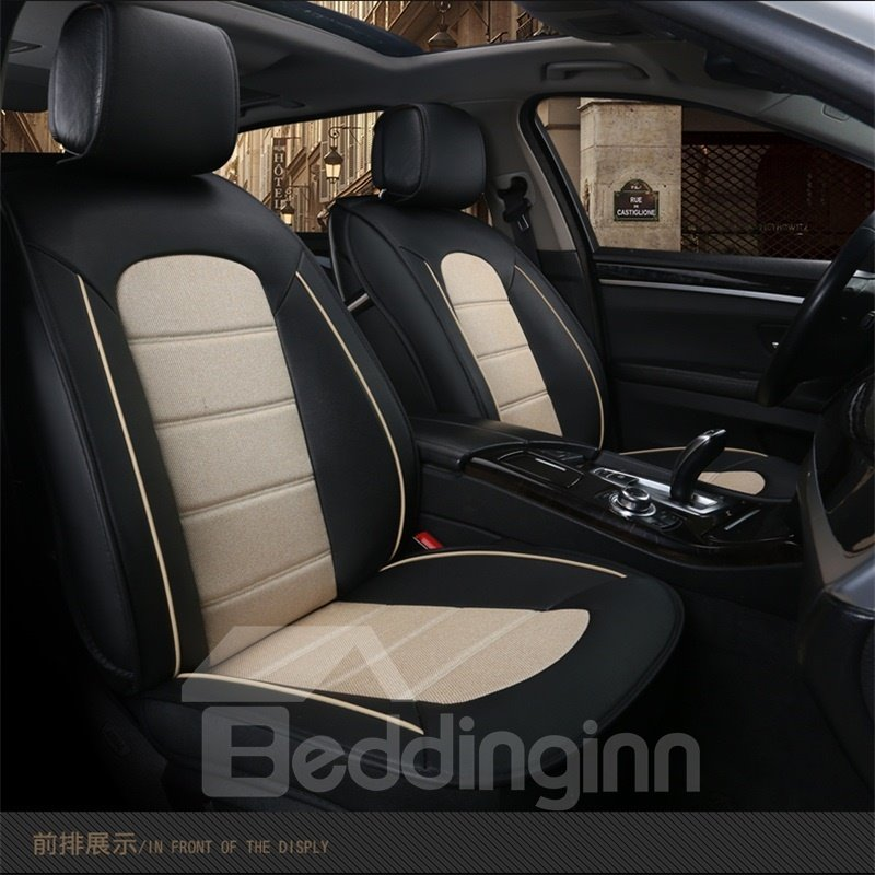 Sleek And Modern Design Dual Color Universal Fit Car Seat Covers