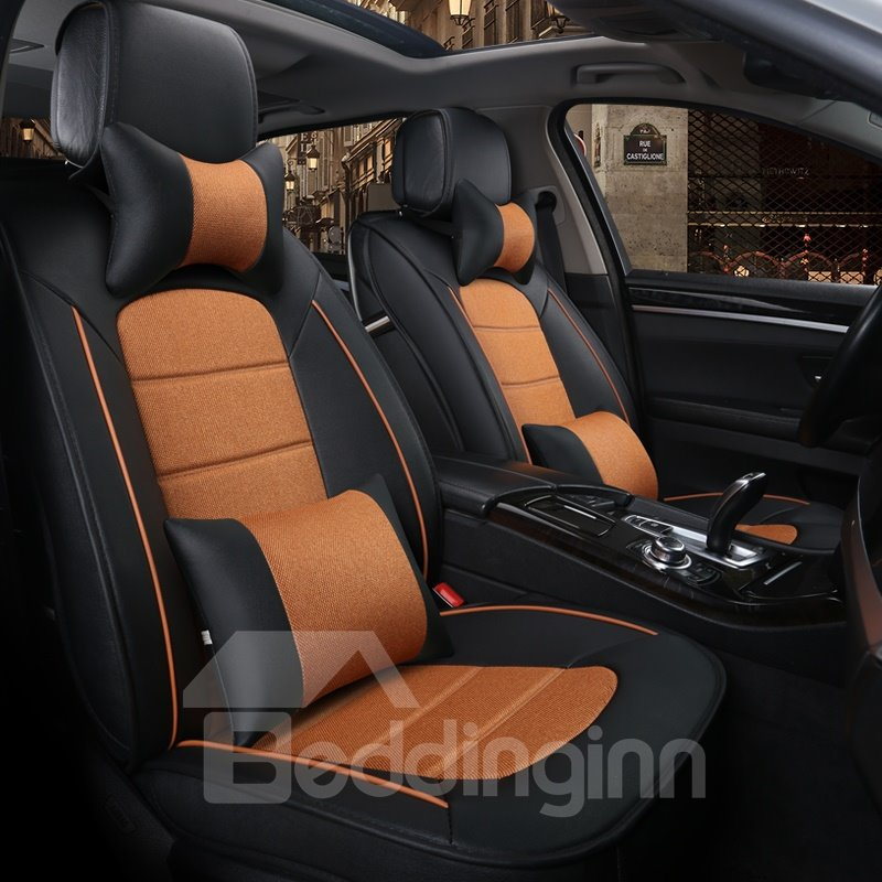 Sleek And Modern Design Dual Color With Pillows Universal Fit Car Seat Covers