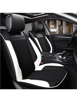 Modernistic Sports Design Contrasting Colors Universal Leather Car Seat Covers