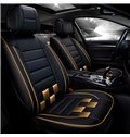 Luxury Sports Series Racing Design Contrasting Colors Universal Leather Car Seat Cover