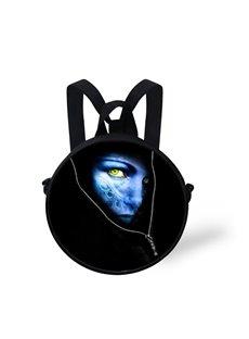 Avatar 3D Pattern Round School Bag Shoulders Backpack