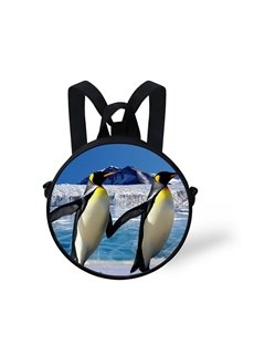 3D Couple Hand-in-Hand Penguin Wanding Free in the Ice Polyester Outdoor Packback