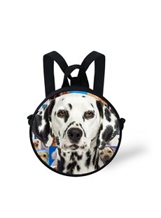 3D A Gloomy Spotty Dog Standing in a Group of Dogs Polyester Outdoor Backpack
