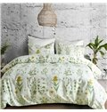 Pastoral Style Watercolor Flowers Pattern 3-Piece Bedding Sets/Duvet Cover