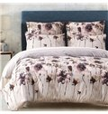 Wash Painting Printed Pastoral Style Beige Polyester 3-Piece Bedding Sets/Duvet Cover