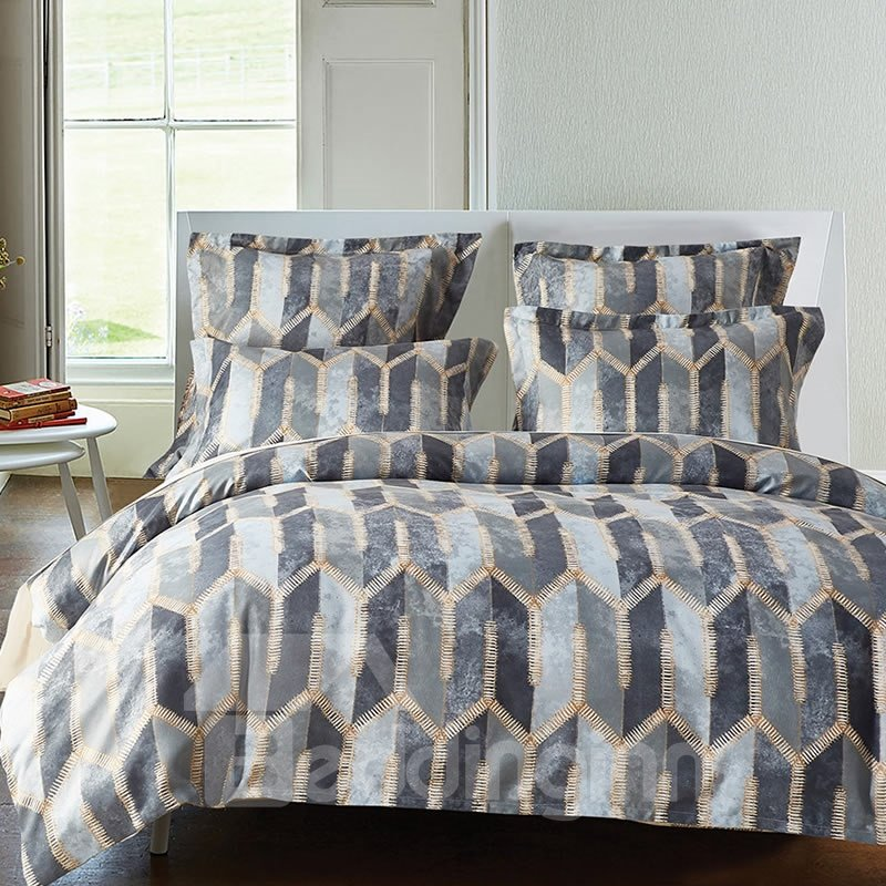 Symmetrical Figures Pattern Polyester 3-Piece Bedding Sets/Duvet Cover
