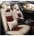 Luxurious Smooth Leather Design With Ventilating Patterns Custom Fit Car Seat Covers