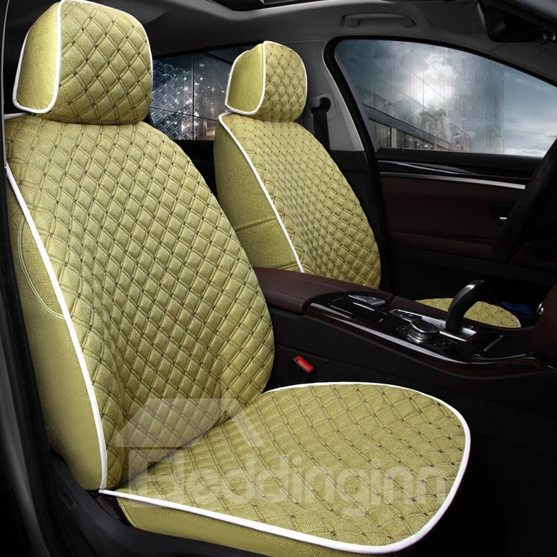 Luxury Woven Flax Material Luxury Series With Pillows Custom Fit Car Seat Covers