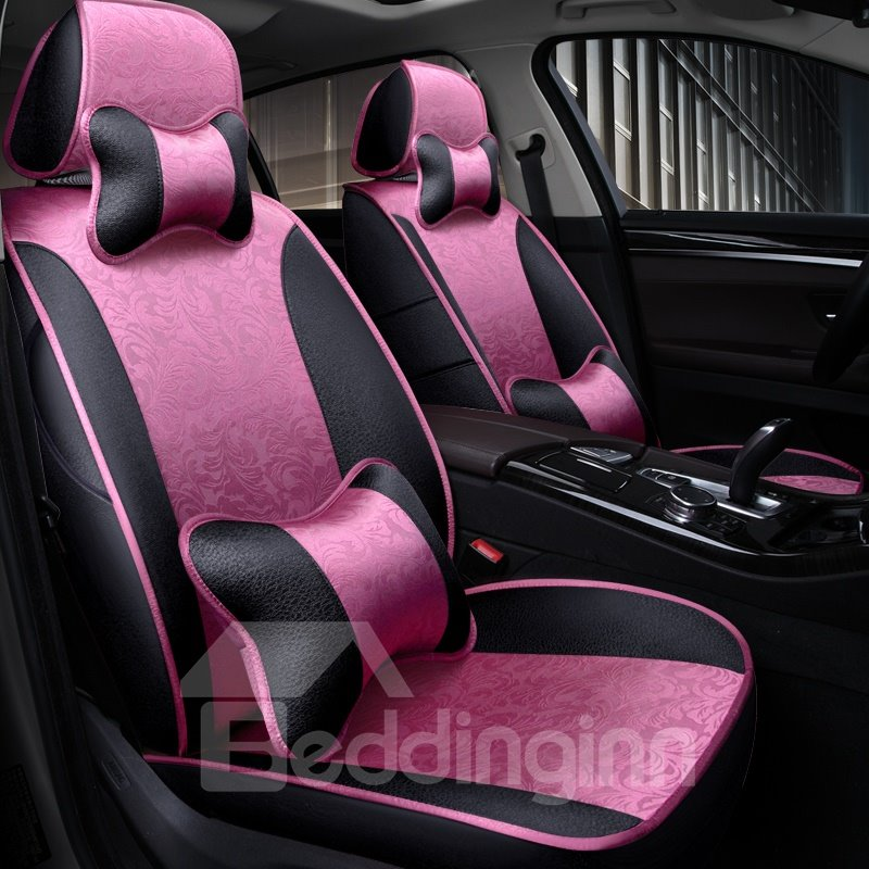 Silky Smooth Comfortable Sleek Design With Pillows Custom Fit Car Seat Covers