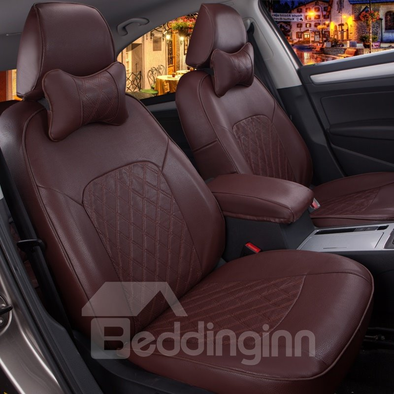 Custom Made Luxurious Leather And Ventilating Patterns Car Seat Covers