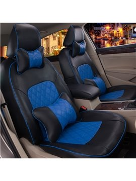 Sports Color Design Plaid Design With Supporting Pillows Custom Fit Car Seat Covers