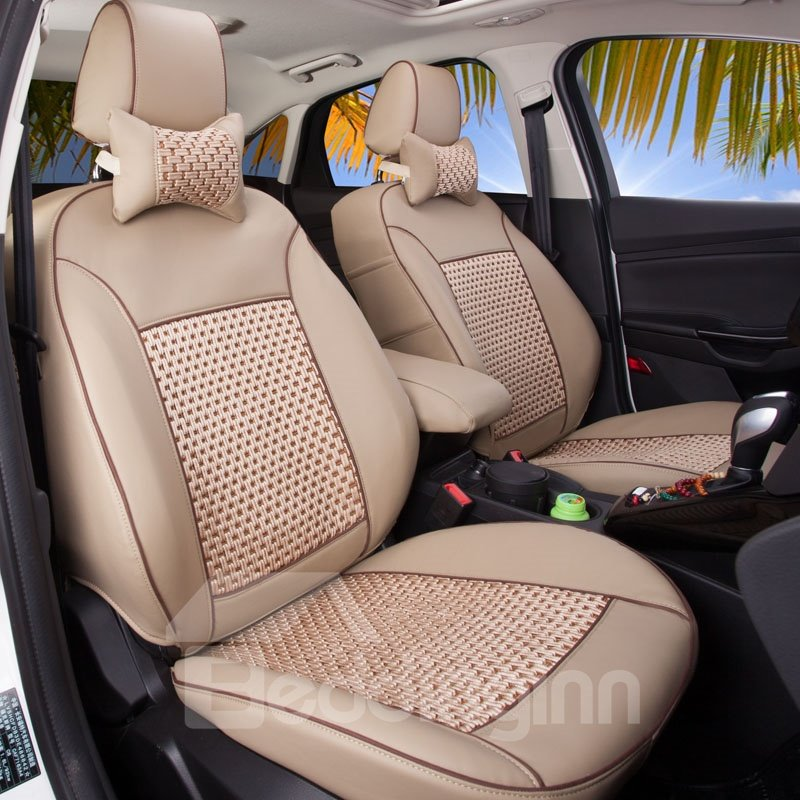 Custom Made Sleek And Comfortable Ventilating Leather Material Car Seat Covers