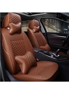 Custom Made Sleek And Comfortable Cooling Middle Section Leather Car Seat Covers Anti-skid Wear-resistant Dirt-resistant Durable And Breathable