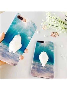Squishy Seal Polar Bear iPhone 6/6s/7/plus Cute Phone Back Cover