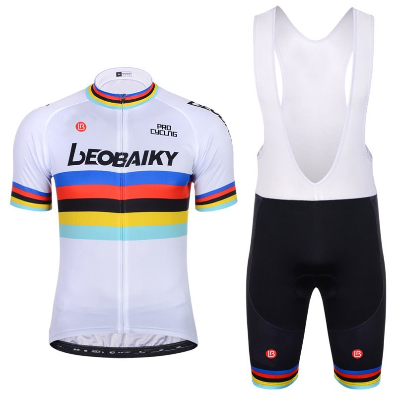 Men Shorts Padded Cycling Pants Bicycle Jersey Color Flag
