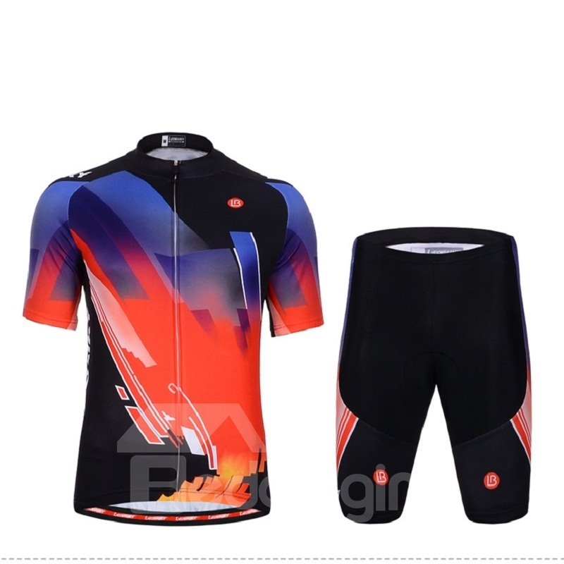 3D Silicone Magic Color Block Padded for Bike Men Cycling Jersey set