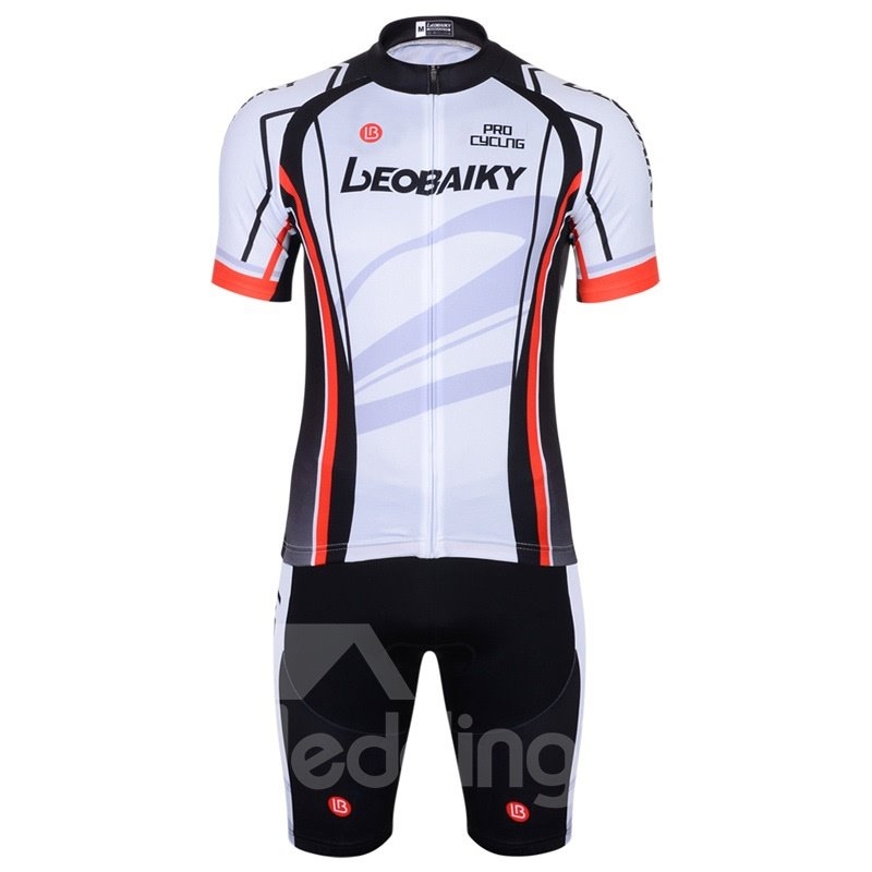 3D Silicone Magic Color Block Padded for Bike Men Cycling Jersey Set White