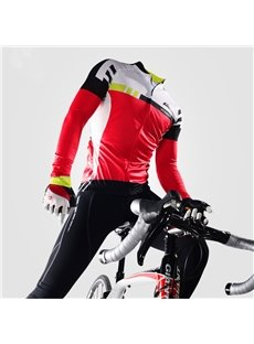 Cycling Jersey Outfits Windproof Bike Clothing Sets Red