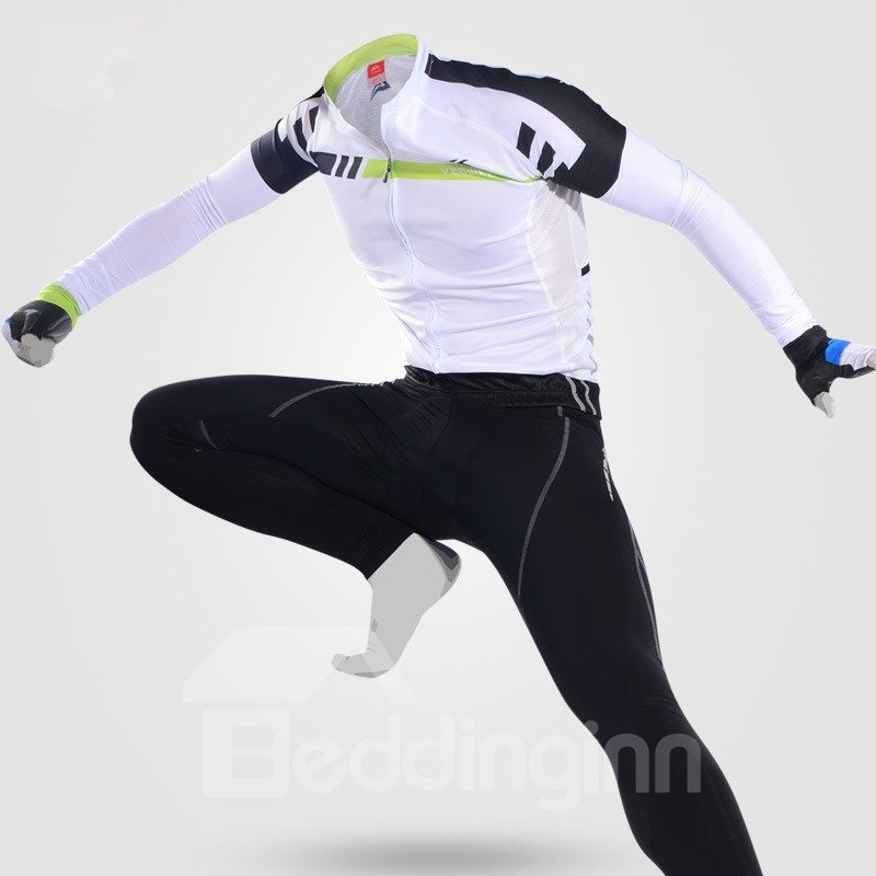 Cycling Jersey Outfits Windproof Bike Clothing Sets Black