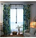 Blackout and Decoration High Quality Polyester Modern Style 2 Panels Shading Cloth Curtain