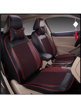 Classic Smooth Leather Business Design Ventilating Custom Fit Car Seat Covers