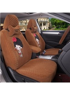 Cute Cartoon Figure Soft And Comfortable Cloth Custom Fit Car Seat Covers