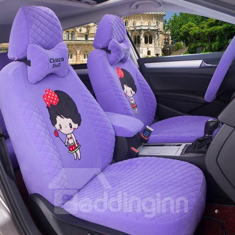 Cute Cartoon Figure Soft And Comfortable Cloth Custom Fit Car Seat Covers