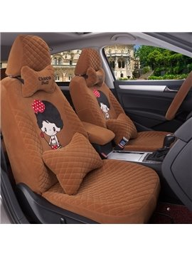 Cute Cartoon Figure Girly Style Comfortable Pure Colored Custom Fit Car Seat Covers
