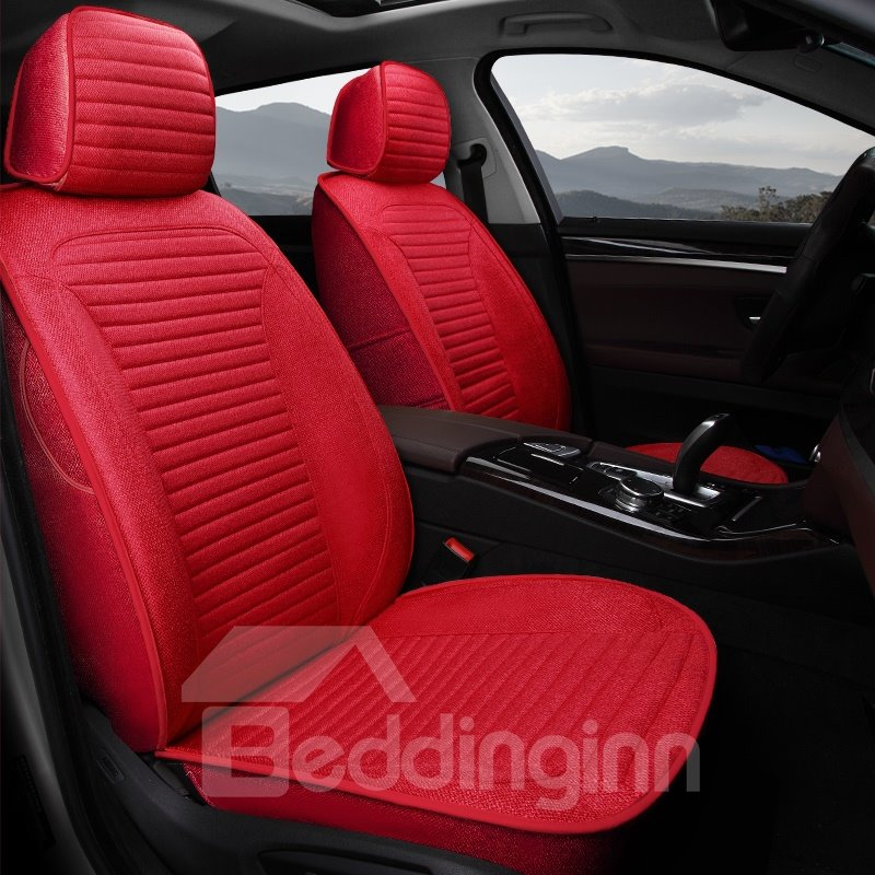 Pure Colored Casual Business Streamlined Linings Custom Fit Car Seat Covers