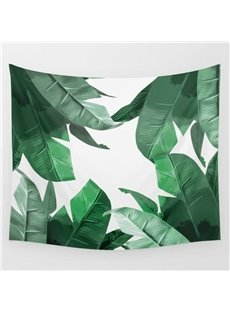 Tropical Leaves Fresh Style Decorative Hanging Wall Tapestry