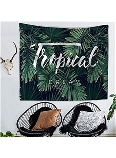 Single Tropical Palm Leaf Decorative Hanging Wall Tapestry