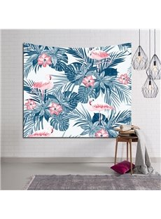 Tropical Flamingo and Foliage Design Decorative Hanging Wall Tapestry