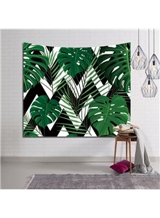 Green Tropical Leaves Prints Decorative Hanging Wall Tapestry