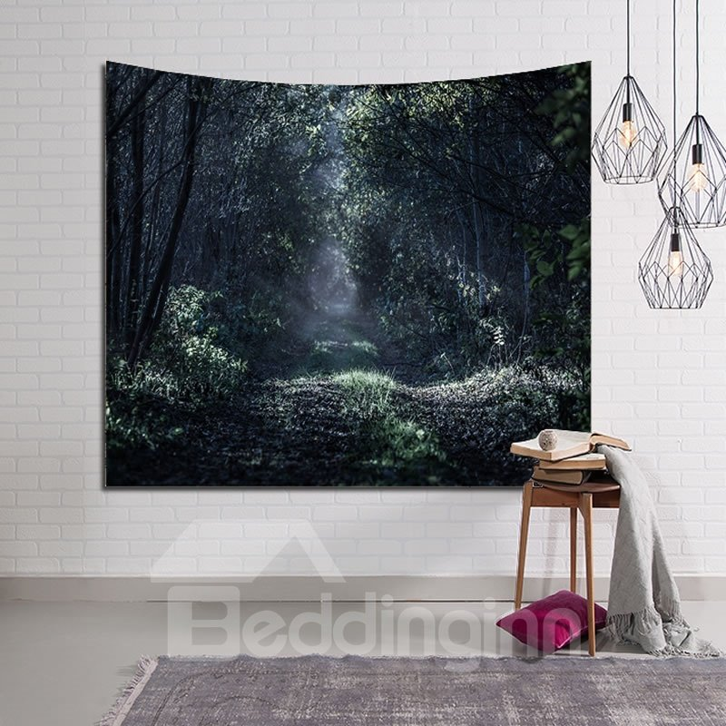 Marvelous Forest Path Decorative Hanging Wall Tapestry