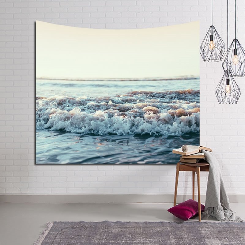 Marvelous Sea Waves Decorative Hanging Wall Tapestry