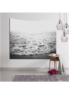 Crashing White Sea Waves Decorative Hanging Wall Tapestry