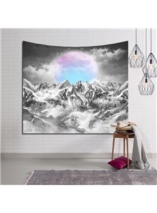 Colorful Ball and Mountain Peak Decorative Hanging Wall Tapestry