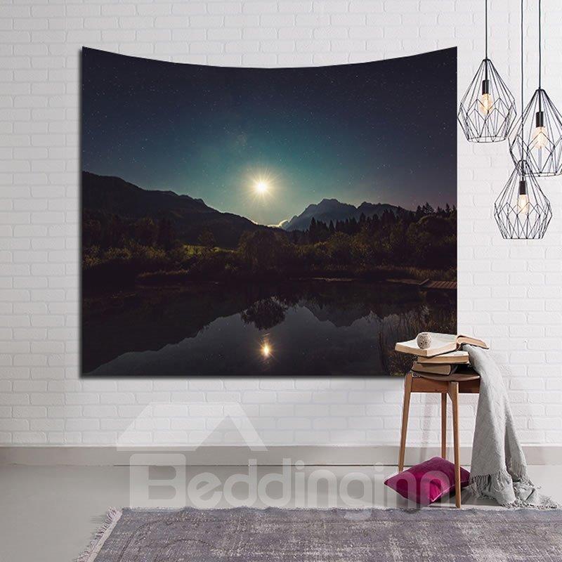 Natural Lake and Mountain Sunshine Decorative Hanging Wall Tapestry