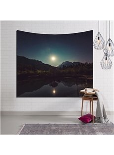 Natural Lake and Mountain Sunshine Decorative Hanging Wall Tapestry