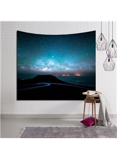 Mountain Road and Blue Sky Decorative Hanging Wall Tapestry