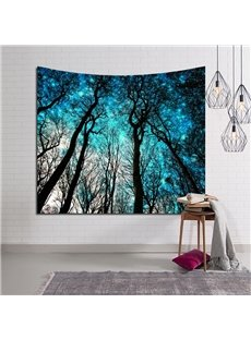 Magical Forest and Toward Blue Sky Design Decorative Hanging Wall Tapestry