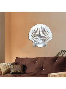 Silver Mirror Shell Plastic Waterproof and Eco-friendly 3D Wall Stickers