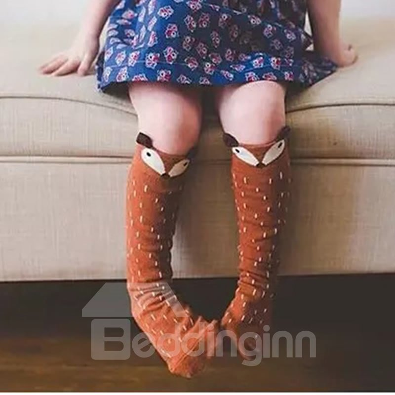 Cute Fox Printed Cotton Nordic Style Baby Stocking