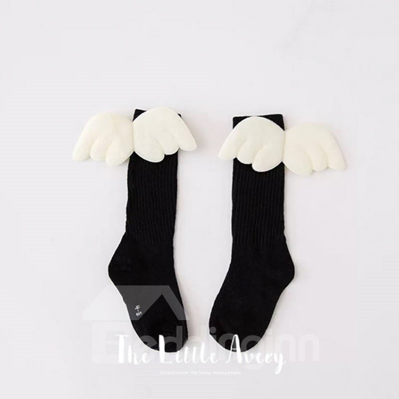 Wings Cotton Nordic Style Pure Color Baby Stocking