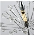 Dandelion Pattern Stainless Steel and Crystal 6 Bulbs Switch Pendant Lights