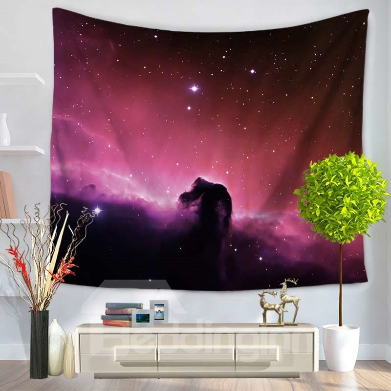 Galaxy Space and Stars Twinkle Decorative Hanging Wall Tapestry